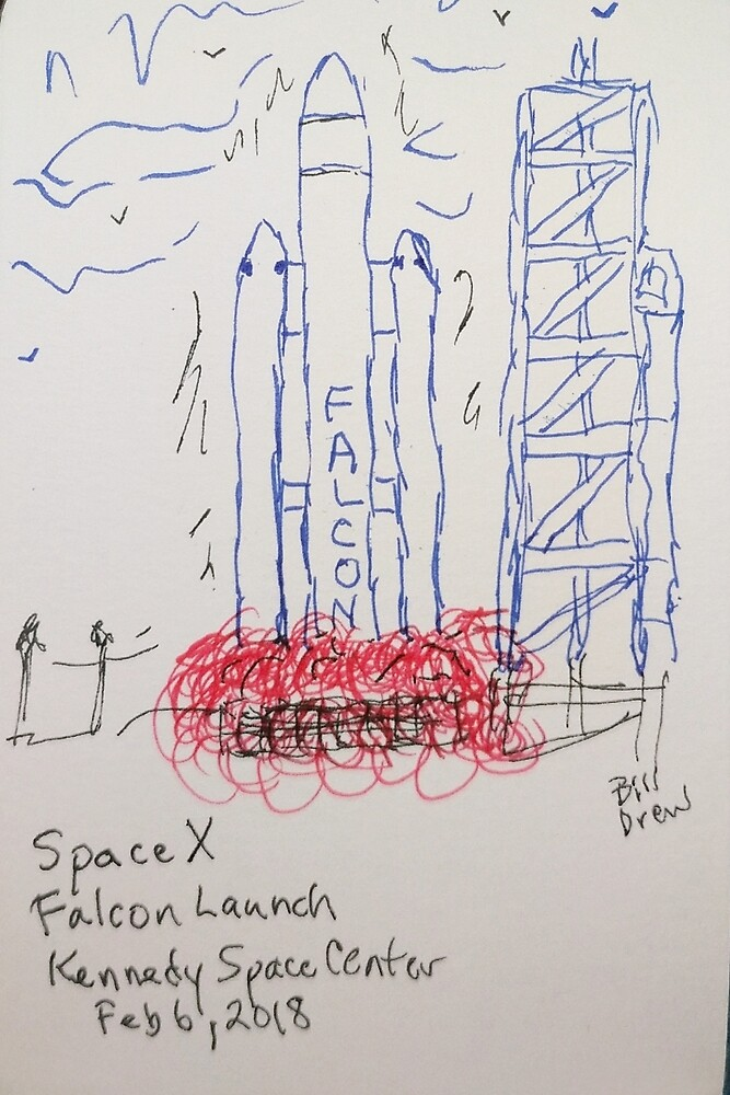 SpaceX Falcon by Branwen Drew