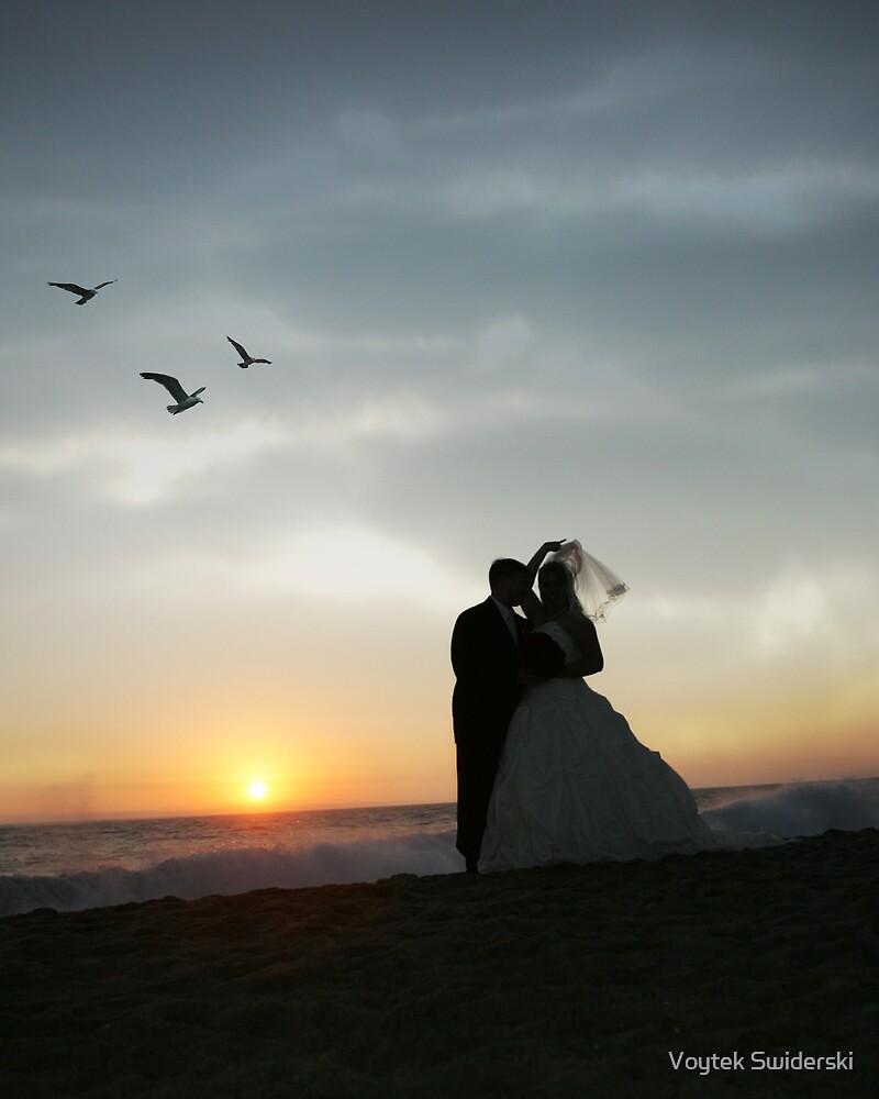 Silhouettes at Sunset  by Voytek Swiderski