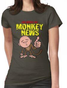 Karl Pilkington - Monkey News Womens Fitted T-Shirt