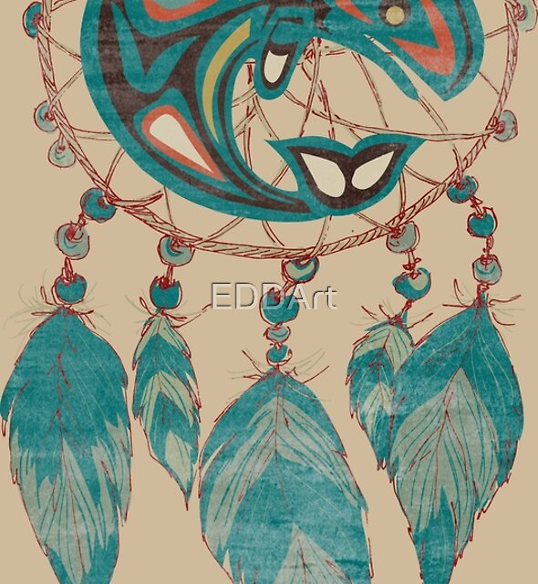 Native American Totem Orca Whale Dreamcatcher 1 by EDDArt