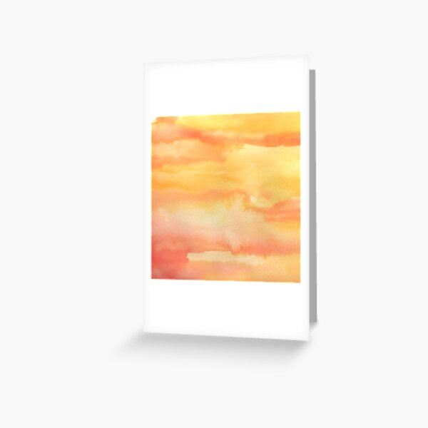 Apricot Sunset Greeting Card