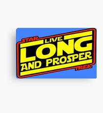Live Long & Prosper Strikes Back Canvas Print