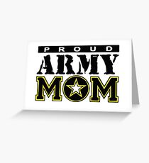 Proud Army Mom Greeting Card
