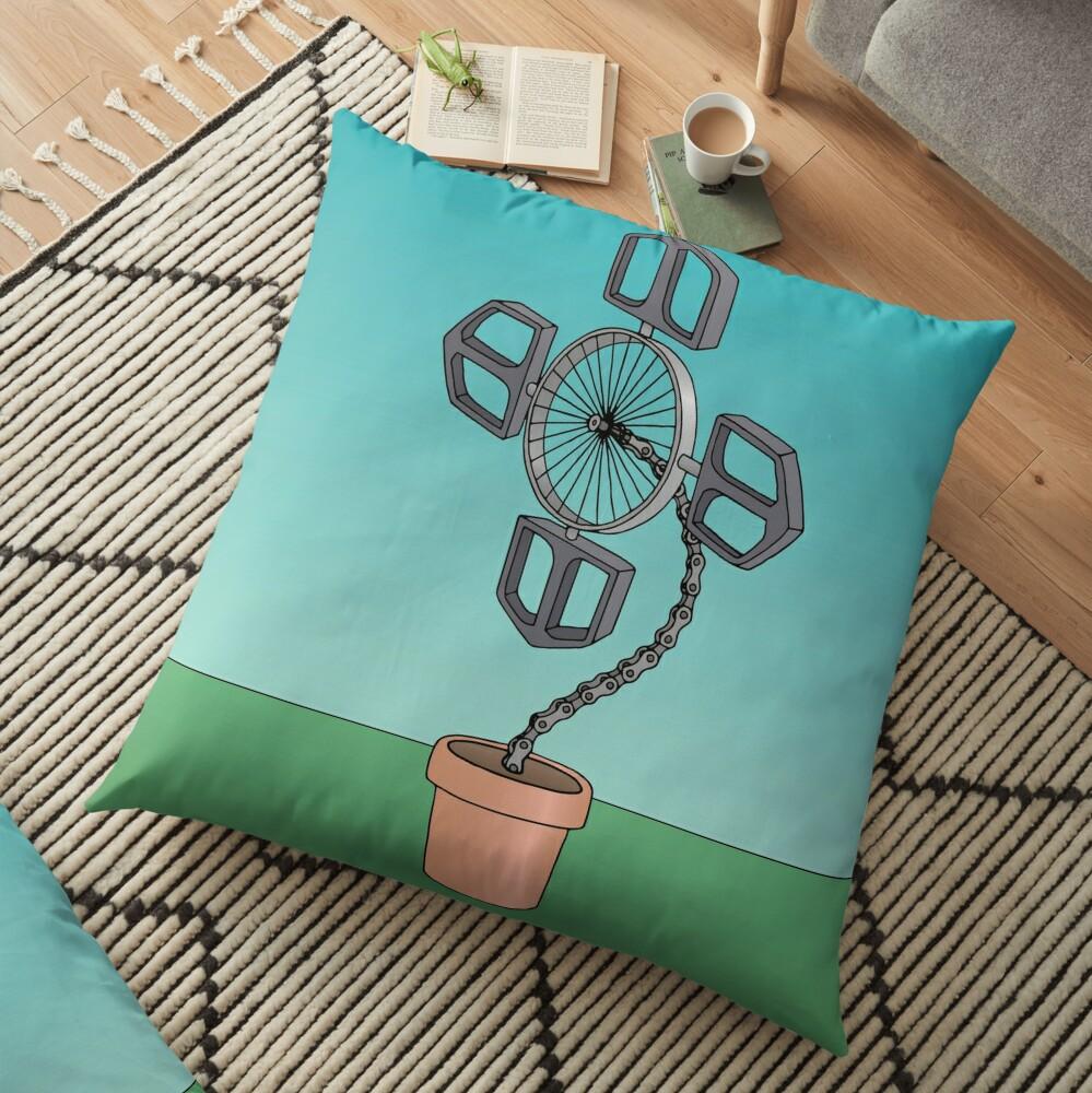 Bike Flower Floor Pillow
