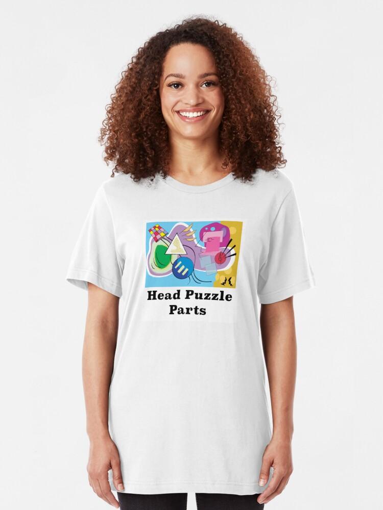 Alternate view of Head Puzzle Parts Slim Fit T-Shirt