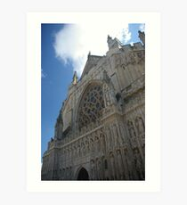Exeter Cathedral Art Print