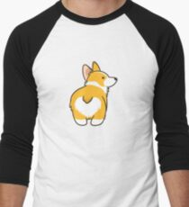 Corgi Heart Butt Men's Baseball ¾ T-Shirt