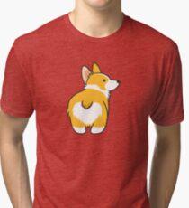 Corgi Heart Butt Tri-blend T-Shirt