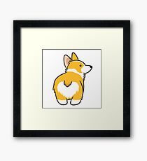 Corgi Heart Butt Framed Print