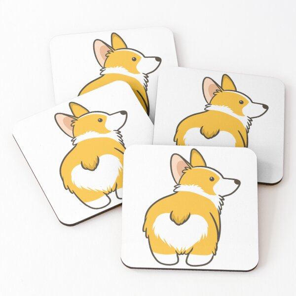 Corgi Heart Butt Coasters (Set of 4)
