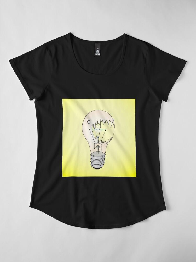 Alternate view of Light Bulb Premium Scoop T-Shirt