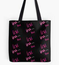 Love black pillow  Tote Bag