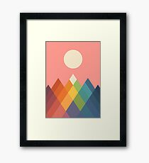 Rainbow Peak Framed Print