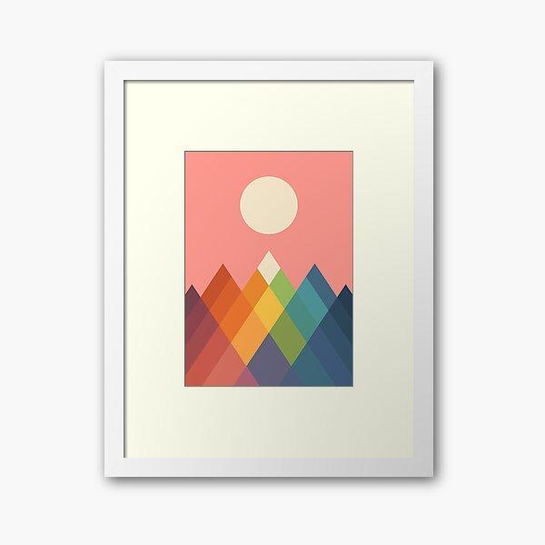 Rainbow Peak Framed Art Print