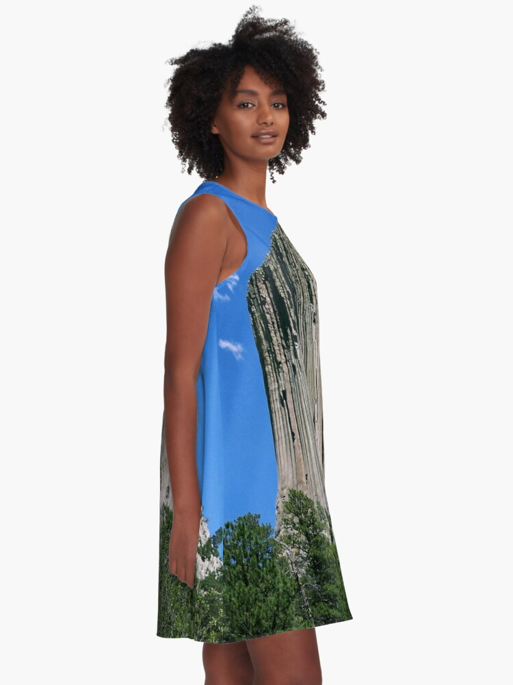 Alternate view of design, decoration, motif, marking, ornament, ornamentation, pattern A-Line Dress