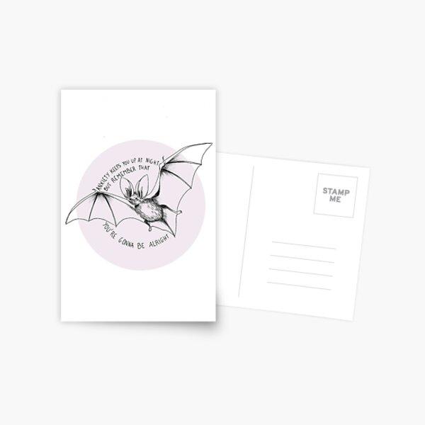 Anxiety bat Postcard
