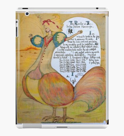 The Rooster. Chinese Horoscpe iPad Case/Skin