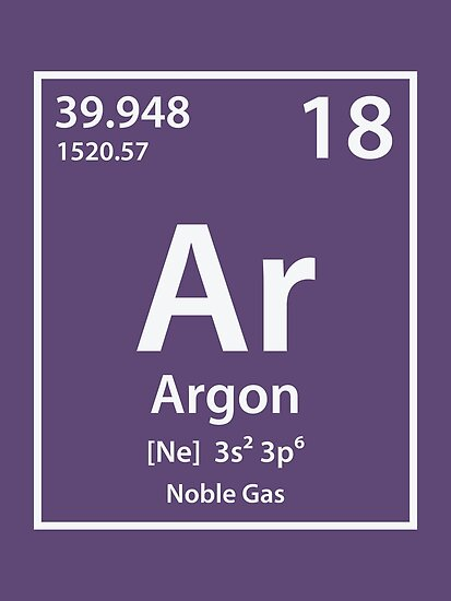 Argon Element Posters By Cerebrands Redbubble