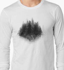 black white forest  Long Sleeve T-Shirt