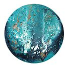 Abstract Fluid Art Painting by Maria Meester