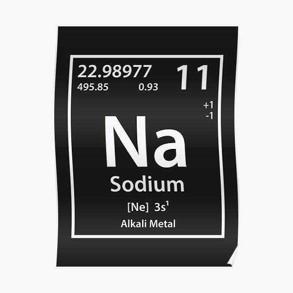Sodium Element Poster