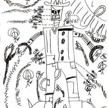 kid drawing robot by Moonlightoak