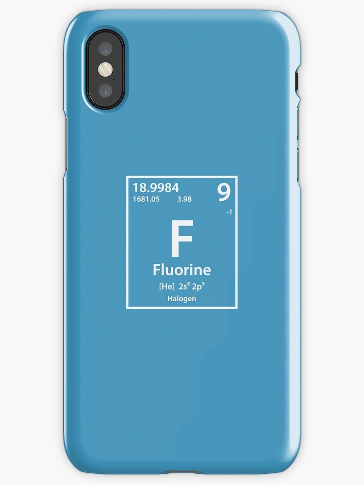 Fluorine Element Iphone Cases Covers By Cerebrands Redbubble