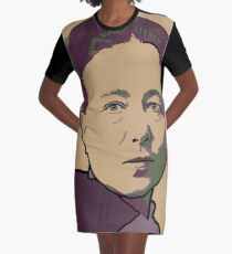 Simone de Beauvoir Graphic T-Shirt Dress