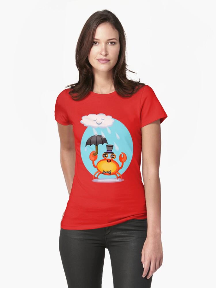 Singing In The Rain Crab T-Shirt by Jamie Wogan Edwards