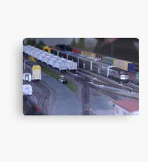 Model Train Show in HO Scale   Metal Print