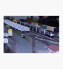 Model Train Show in HO Scale   Photographic Print