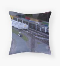 Model Train Show in HO Scale   Throw Pillow