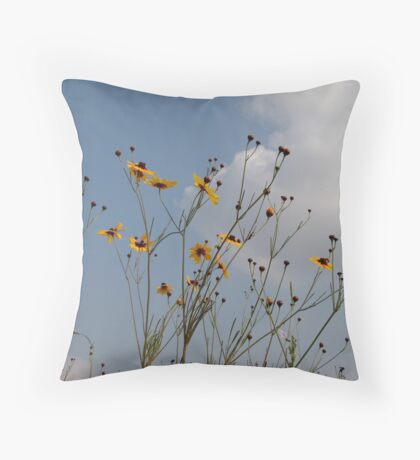 Plains Coreopsis Throw Pillow