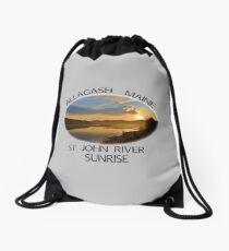 Allagash Maine St John River Sunrise  Drawstring Bag