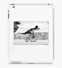 T-Rex on a Penny Farthing iPad Case/Skin