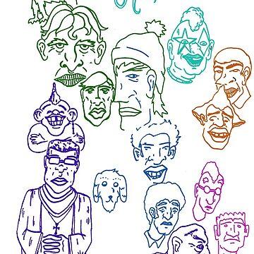 faces shirt by Moonlightoak