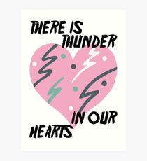 Kate Bush Thunder in our Hearts Art Print