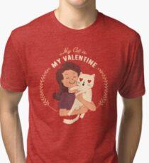 My Cat Is My Valentine Tri-blend T-Shirt