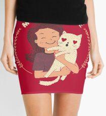 My Cat Is My Valentine Mini Skirt