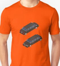 Isometric Transportation. Luxury Limousine Car. Isometric Car. Unisex T-Shirt
