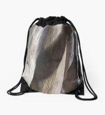 wood, plain simple shapes Drawstring Bag