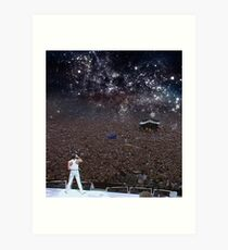 Freddy Mercury Wembley Stadium 1986 Art Print