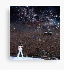 Freddy Mercury Wembley Stadium 1986 Canvas Print