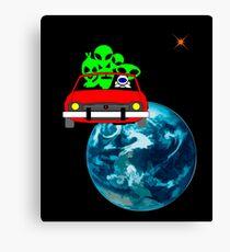 Ride to Mars selfie Canvas Print