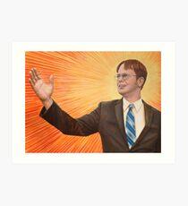 Dwight Schrute Propaganda Painting  Art Print