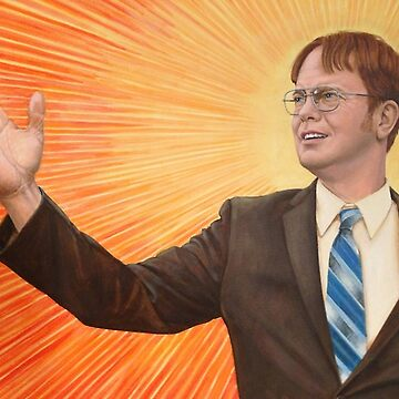Dwight Schrute Propaganda Painting  by prodesigner2