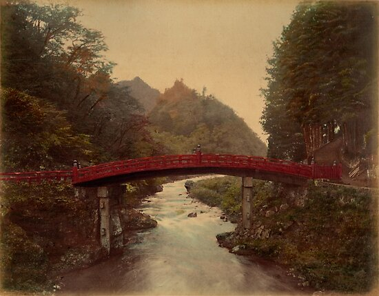 Sacred bridge, Nikko, Japan by Fletchsan