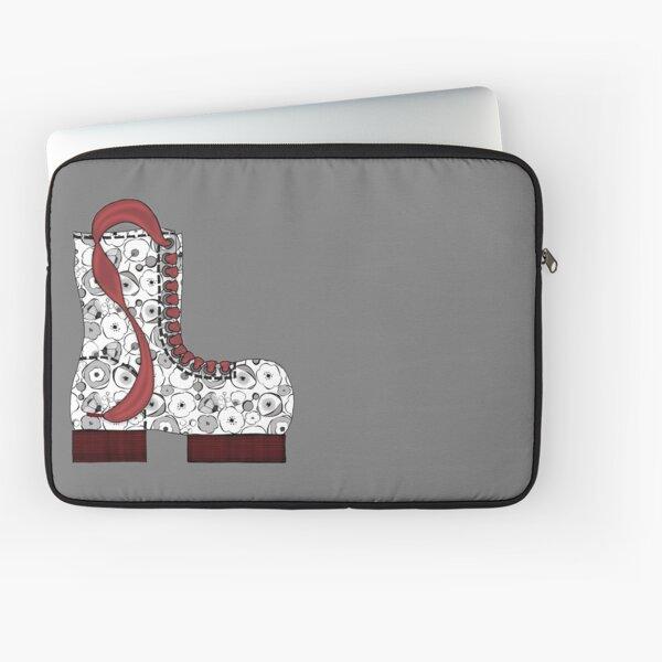 Black & White Blossom Boot Laptop Sleeve