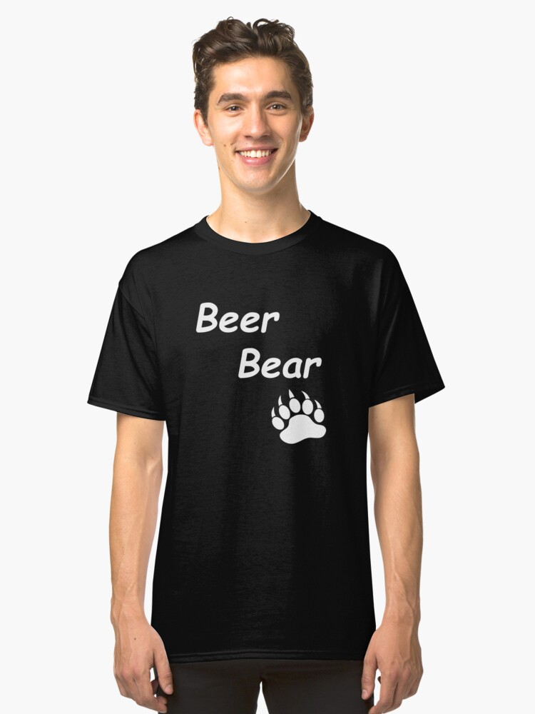 Beer Bear T'Shirt Classic T-Shirt Front