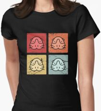 Retro Cute Guinea Pigs Women's Fitted T-Shirt